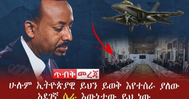 This is the reality of the dangerous conspiracy that is being waged by all Ethiopians